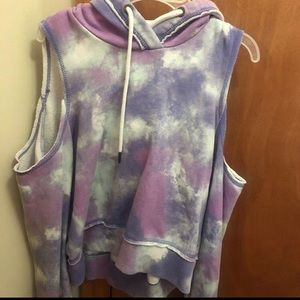 HOLLISTER COLD SHOULDER HOODIE NWOT